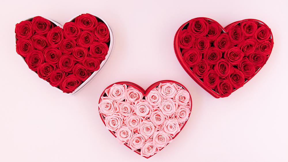 Almari Heart Rose Box - Blush Pink