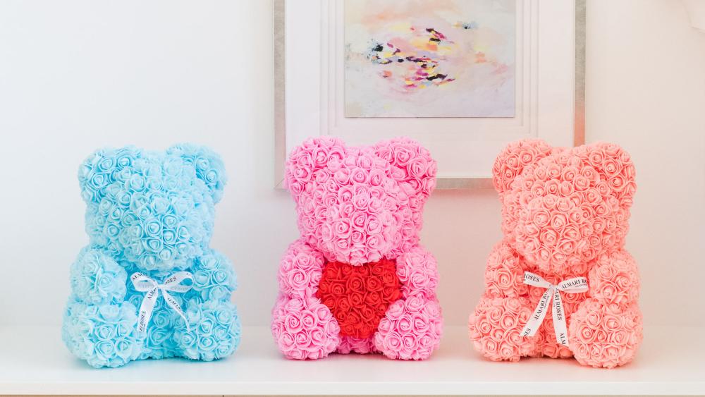 Almari Rose Bear - Pink